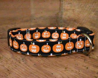 Halloween Dog Collar - Glow in the Dark Pumpkins