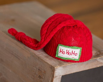 Christmas Newborn Hat, Personalized Newborn Hat, Red and Green Hat, Newborn Photography Prop, Newborn Christmas Prop, Newborn Name Hat, Xmas