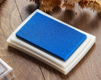 Craft Ink Pad - Stamp Inkpad - Waterproof Ink Oil for Wood Rubber Stamp - Navy Blue