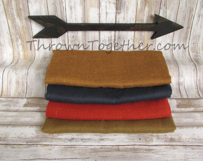 Burlap Craft Bundle, DIY Burlap Supplies, 4pc Fall colors burlap craft supplies, Burlap Craft Pack, Burlap Supplies, DIY Craft Supply