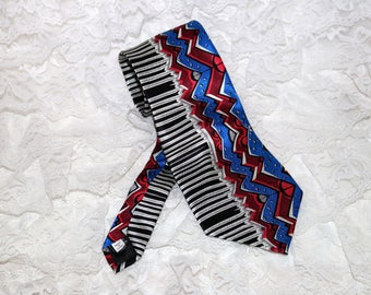 Vintage Electric Neckwear Tie - Power Ties - Piano Keys - 100% Silk