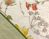 Vintage Botanical Baby Quilt
