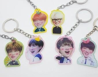 KPOP BTS Keychain BangTan Boys Acrylic Single Side Keychain Keyrings V Jimin Jungkook Suga Jin Jhope Keychain