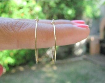 SALE - SALE - gold hoop earrings - gold filled earring - simple hoop earrings - thin delicate earrings - dainty hoop jewelry - Gold earrings