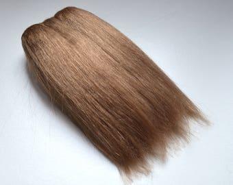 Super soft straight weft mohair, weft for mohair wig dolls, Dark blonde