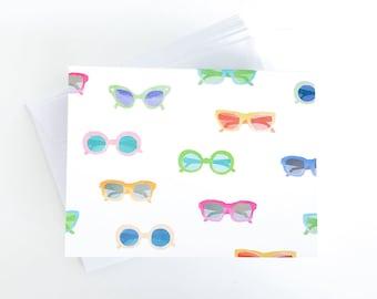 Sunglasses - Blank Note Card