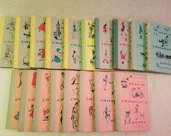 "Set of 18 ""Best In Children's Books"" Vintage 1950s Books"