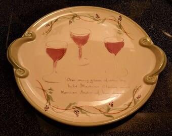 Pfaltzgraff The Secrets of Pistoulet by Jane Kolpen Wine and Cheese Platter