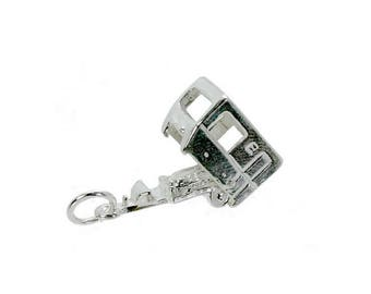 Sterling Silver Opening Caravan Charm For Bracelets