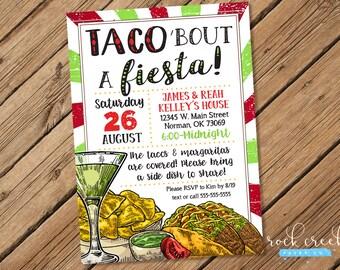 Taco Party Invitation, Mexican Fiesta Invitation, Taco Fundraiser Invitation, Mexican Birthday Invitation, Printable Party Invitation