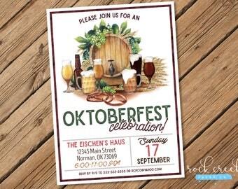Oktoberfest Invitation, Oktoberfest Biergarten, Oktoberfest Party, Oktoberfest Invitation, Beer Birthday, Printable Party Invitation
