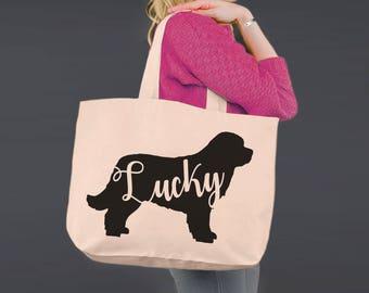 Newfoundland | Newfoundland Dog | Tote Bag | Canvas Tote Bag | Canvas Tote | Shopping Tote | Shopping Bag | Dog Tote | Korena Loves