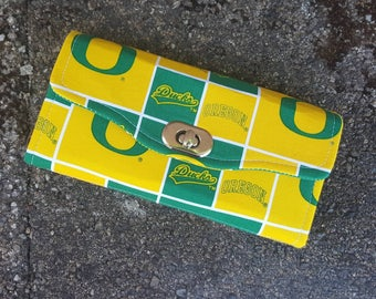 NCW Wallet | Oregon Ducks | Necessary Clutch Wallet | green + yellow
