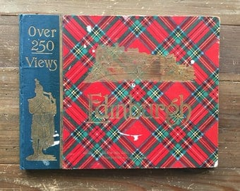 W.R. & S. Ltd. Edinburgh and Vicinity Postcard Album from Early 1900s