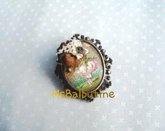 "Antique Brooch "" Teddy Bear Head"""