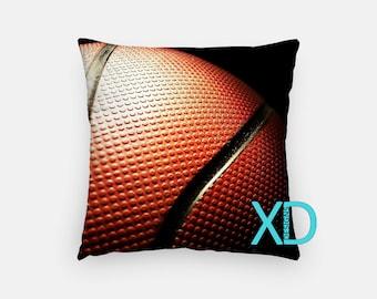 Basketball Pillow, Sport Pillow Cover, Ball Pillow Case, Ball Pillow, Team, Artistic Design, Home Decor, Decorative Pillow Case, Sham