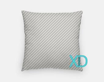 Gray Stripe Pillow, Pinstripes Pillow Cover, Lined Pillow Case,  Gray Pillow, Artistic Design, Home Decor, Decorative Pillow Case, Sham