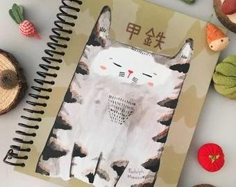 Notebook: Kotetsu the ninja cat