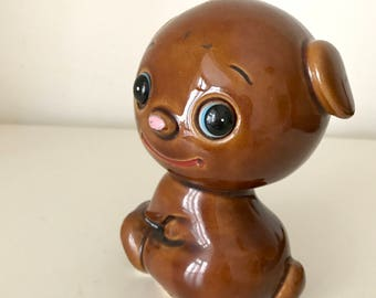 SALE- Vintage Ceramic Brown bear Figurine