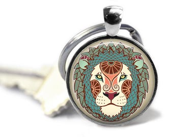 Leo zodiac - Leo key chain - Zodiac key chain - Whats your sign - Leo gift - Zodiac gifts - Astrology key chain - Driver gift
