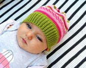 Toddler girl knit hat, Baby girl beanie, Knitted hat for girl, Wool winter baby hat, Warm hat for girl, Knitwear hat for new baby, Gift baby