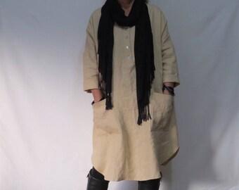 Linen Dress, Shirtdress, Oversized dress, Handmade, Natural Fibre, Maternity, Linen clothing, Tunic,  Pockets, Casual dress, Pure Linen