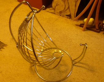 hammock fruit basket and rack   2 positions for standard swing basket with banana hook   fruit hammock   etsy  rh   etsy