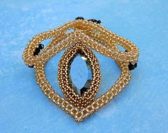 Crystal Bead Work Bracelet