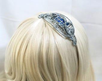 Silver Wire Wrap TARDIS Headband
