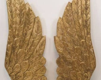 Hand Carved Gilt Painted Wings