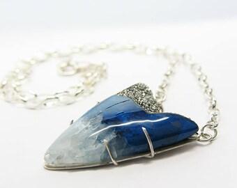 Platinum Drusy Necklace