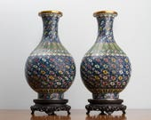 Chinese Cloisonné Bottle Vases Reserved Sale