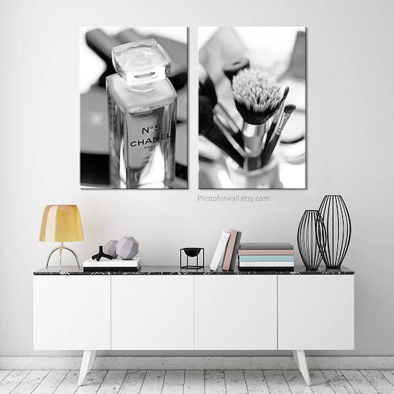 Chanel Bathroom Set Chanel Photography Bathroom Decor Canvas