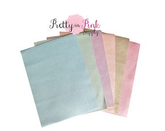 Soft Faux Leather Fabric Sheets -Metallic Foil Fabric Sheet-A4 or A5 Leather Fabric Material-DIY Hair Bows 1mm Thick