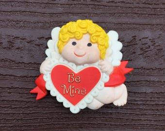 Vintage Jewelry American Greetings Valentine's Day Cupid Be Mine Pin Brooch