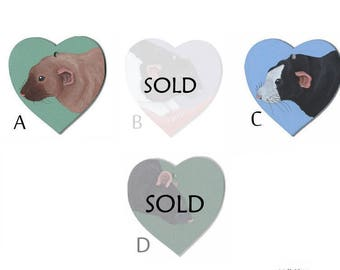 Rat Wooden Hearts - SALE
