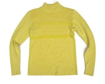Yellow fuzzy sweater | Etsy