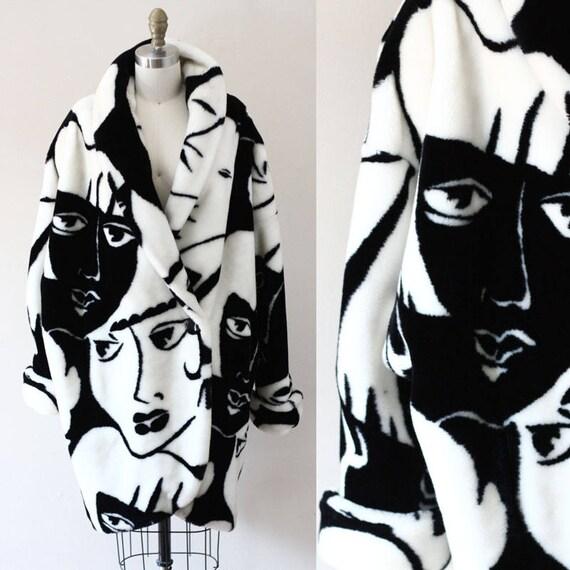 1980s face jacket // 1980s novelty jacket // vintage jacket
