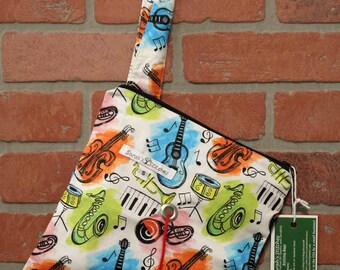 Knitting Bag, Crochet, Knit, Yarn, Wool, Music, Yarn Storage, Yarn Bag with Hole, Grommet, Handle, SYB111