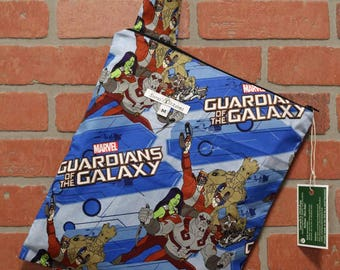 Cloth Diaper Wetbag, Guardians of the Galaxy, Pail Liner, Diaper Bag, Day Care Size, Holds 5 Diapers, Size Medium with Handle item #M140
