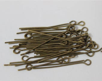 300 PCs 30mm bronze look metal buckle
