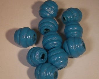 Round beads streaked turquoise 10mm sold per 10