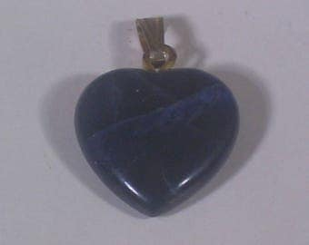 14mm sodalite gemstone heart pendant