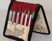 24 pair capacity Interchangeable knitting needle and crochet hook keeper case sized to hold up to US 11, Harry Potter, Marauder's Map
