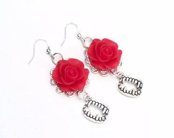 Dracula Rose Earrings