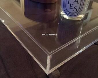 Megan Custom Made Lucite Trays - Acrylic - Crystal Clear - Various Dimensions