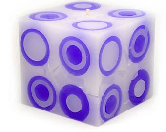 Cosmic Candles Purple Super Ball Square Pillar Unscented 4x4