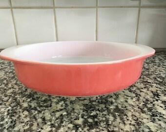 Pyrex * Flamingo Pink * 221 Cake Pan * 8 Inch Round