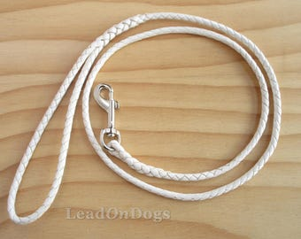 LeadOn Whiskey - Braided Kangaroo Leather Dog Lead - Design Your Own -  Made to Order