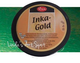 Inka Gold -Emerald Green Non toxic  beeswax based Metal gloss paint by Viva Decor